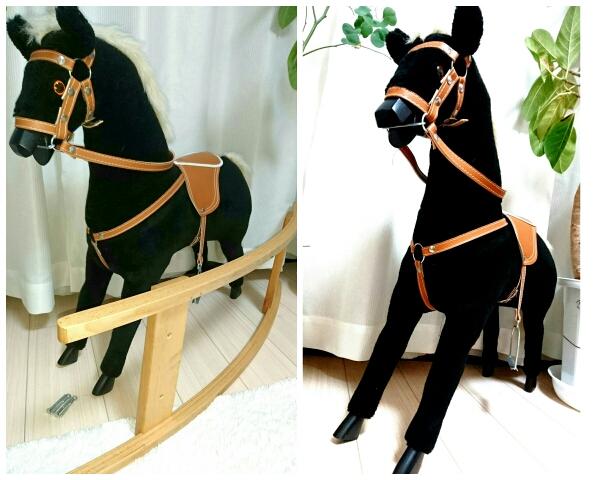 【送料無料】グロリア ホルストマイヤー ドイツ製木馬 子供用玩具 乗馬玩具 インテリア雑貨 海外雑貨 オブジェ ハンドメイド 美品 中古