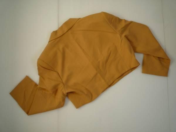 【良品!!】◆PER SPOOK◆長袖ジャケット やまぶき色 無地 9AT_画像2