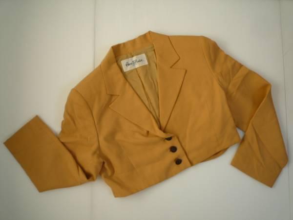 【良品!!】◆PER SPOOK◆長袖ジャケット やまぶき色 無地 9AT_画像1