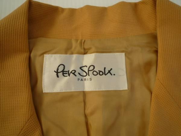 【良品!!】◆PER SPOOK◆長袖ジャケット やまぶき色 無地 9AT_画像3