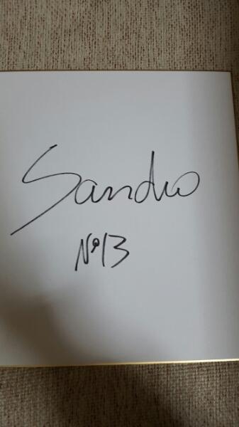 ジェフ千葉 サンドロ直筆サイン色紙