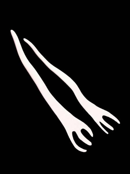 新品箱入り即決★tsetse サラダフォーク ツェツェ H.P.FRANCE アッシュペーフランス 取り扱い Tse&Tse associees ツェツェ・アソシエ_画像1