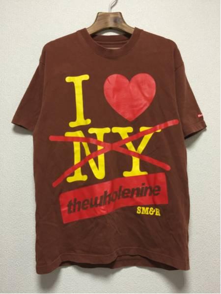 [即決古着]Wholenine/ホールナイン/Tシャツ/半袖/プリント/ブラウン/L1