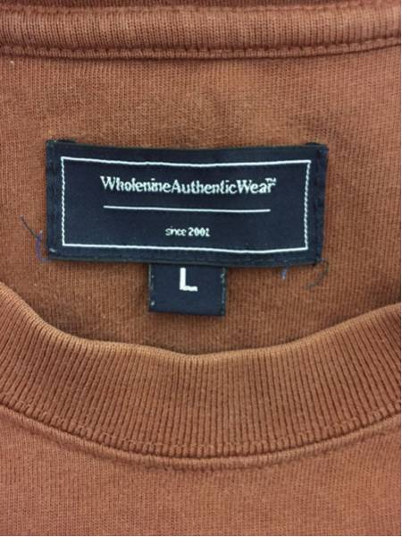 [即決古着]Wholenine/ホールナイン/Tシャツ/半袖/プリント/ブラウン/L3