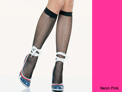 5578NPK Leg Avenue 網ソックス ネオンピンク 新品 OS ワンサイズ フリーサイズ 蛍光 靴下 網タイツ レッグアベニュー アメリカ インポート_画像1