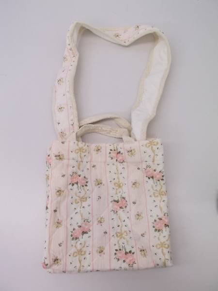 【タグ付き!】 ◆ ゼロコレ ◆ 手作りバッグ 2way 花柄