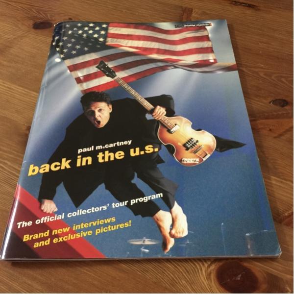 ポールマッカートニー ツアーパンフ Back in the u.s. 2002