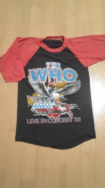 美品 82年 THE WHO パキ綿 ラグランTシャツ ビンテージ