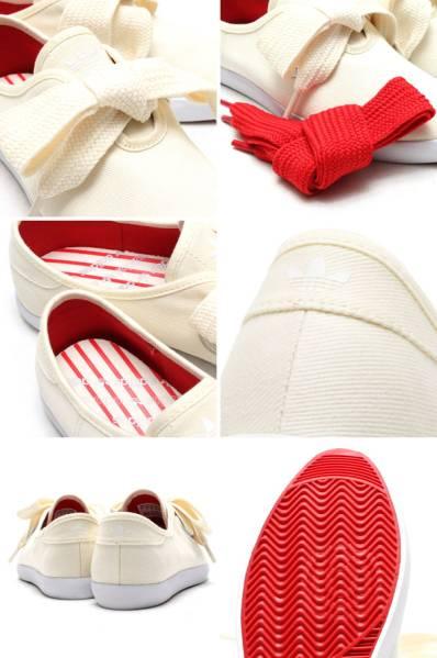 27.5cm●アディダス オリジナルス アトモス リレース ロー 白 赤 adidas RELACE LOW S82856 フラットシューズ りぼん かわいい_画像3