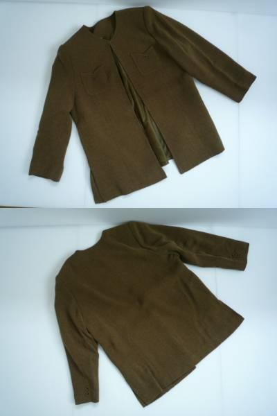 【美品!!】◆スーツ上下セット◆ 茶 衿なし 11BR_画像2