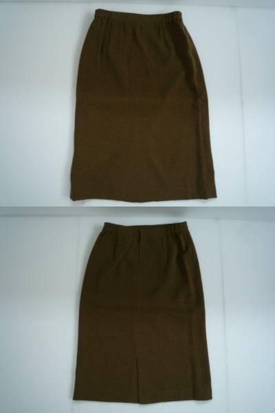 【美品!!】◆スーツ上下セット◆ 茶 衿なし 11BR_画像3