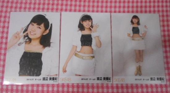 SKE48 渡辺美優紀 2014 7月 月別 ランダム 生写真 コンプ NMB48