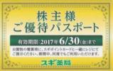 ◎最新 スギ薬局 株主ご優待パスポート 2017/6/30迄 複数