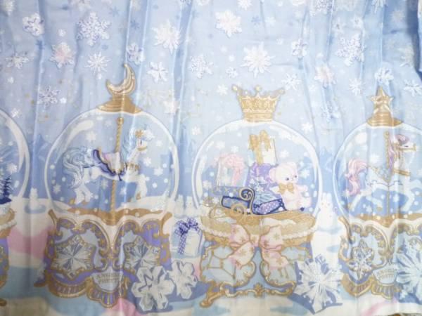 ★Angelic Pretty Sugar Dream Domeハイウエスト ジャンパースカート★くまちゃん はにかみベアー スノー_柄アップ