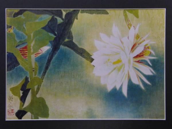 岩橋 英遠 月下美人 豪華画版 大判 版上サイン入 額付(自然、風景画 ...