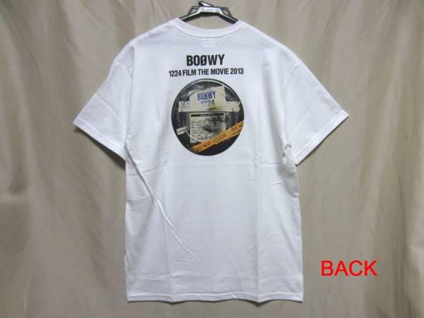 BOOWY Tシャツ M 1224 FILM THE MOVIE 2013 未使用 氷室 布袋