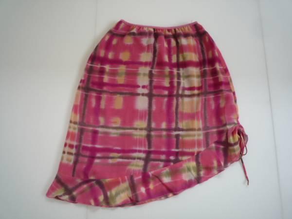 【お得!!】●J nathan martin● デザインスカート ピンク系 膝丈