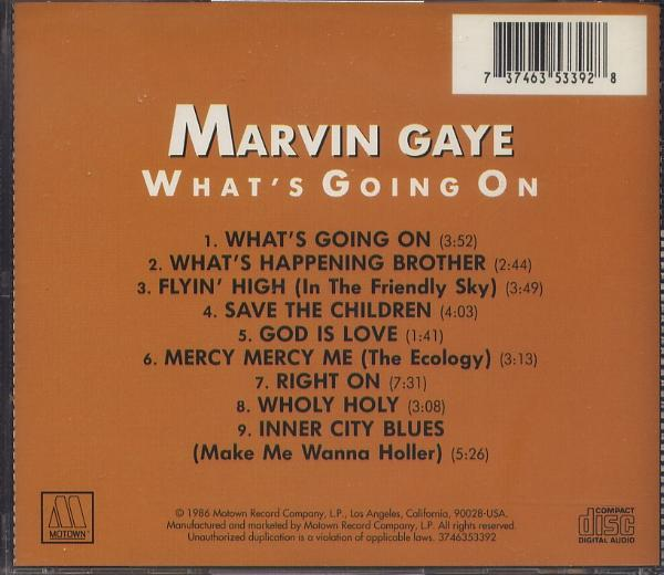 CD マーヴィン・ゲイ MARVIN GAYE WHAT'S GOING ON_画像2