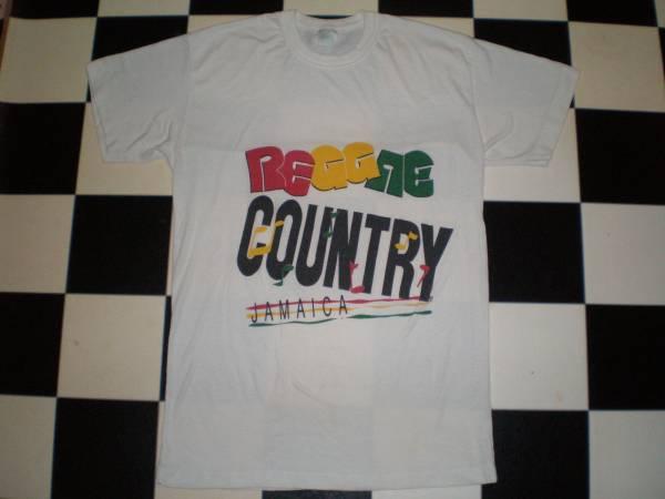 70's~80's REGGAE COUNTRY レゲエ・カントリー ヴィンテージ Tシャツ Mサイズ位 ダブ ロックステディ OLD VINTAGE JAMAICA ジャマイカ製