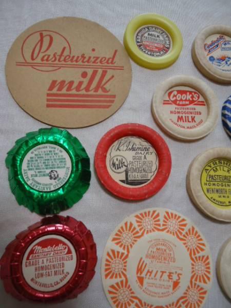 値下げ USA ビンテージ 牛乳ビンふた ミルクキャップ 14点セット ポグ       _画像2