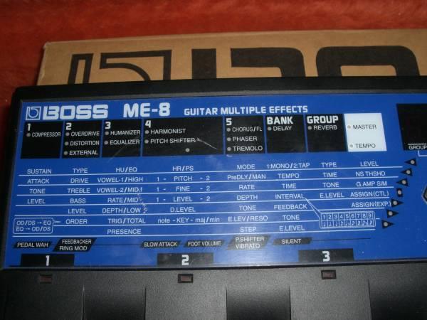 交換可●BOSS ME-8 アナログ 歪み OD-1 回路 マルチ 激レア ボス