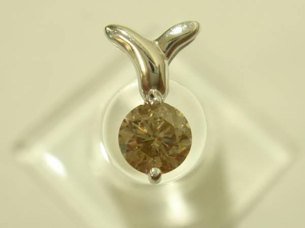 税込 0.6ctブラウンダイヤモンド K18WG