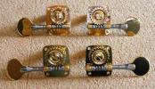 【新品】 コントラバス マシンヘッド 4個組 (真鍮製・ネジ付)