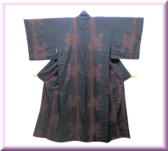 《商品番号 SC0037 》 単衣「洗える着物」◇竹に薔薇◇_画像1