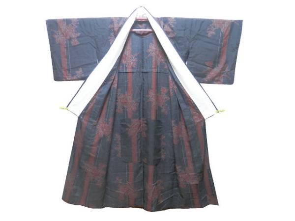 《商品番号 SC0037 》 単衣「洗える着物」◇竹に薔薇◇_画像2