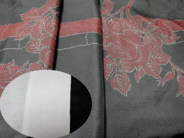 《商品番号 SC0037 》 単衣「洗える着物」◇竹に薔薇◇_画像3