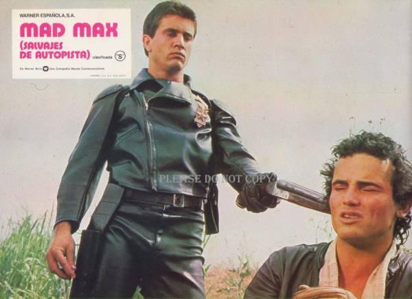 1979年 映画 マッドマックス  マックス・ロカタンスキー /メル・ギブソン ロビーカード 3枚組