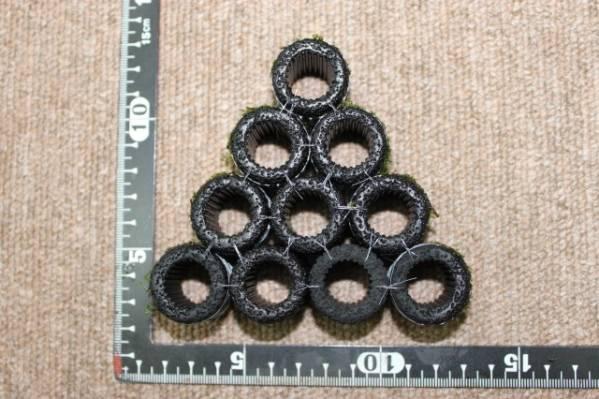 ◆◇黒BIGろ材10個ハウス ジャイト南米ウィローモス付き◇◆_(約)直径25mm×高さ25mm×10個
