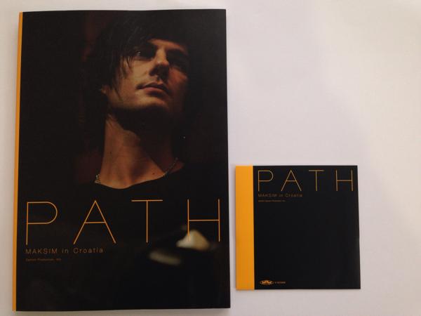 マキシム サイン入 写真集【PATH MAKSIM in Croatia 】DVD付