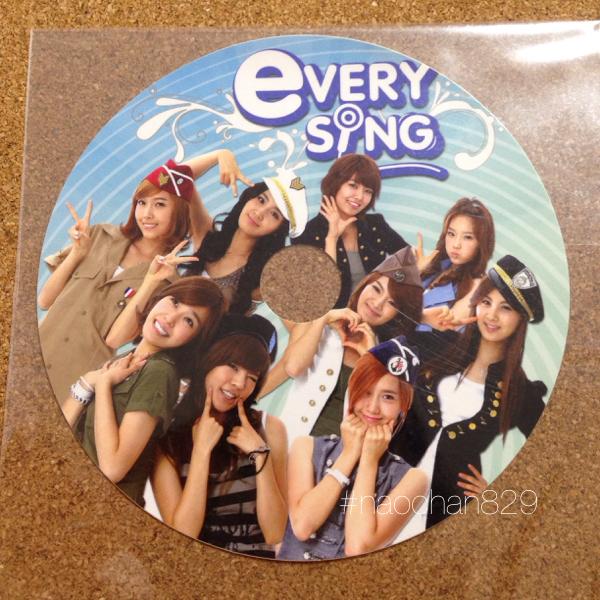 少女時代◆everysing CDラベル 公式 GENIE /smtown ユナ テヨン ジェシカ ティファニー CD Blu-ray トレカ タオル ライブグッズの画像