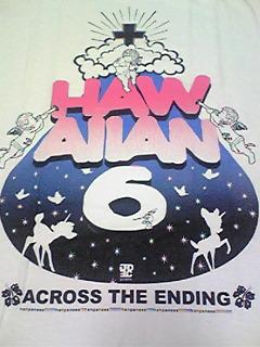 HAWAIIAN6「ACROSS THE ENDING」ツアーTシャツ新品M 横山健