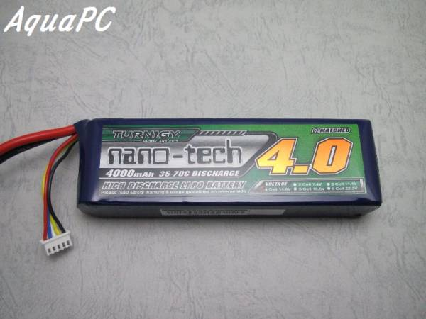AquaPC★Turnigy nano-tech 4000mah 4S 35-70C Lipo Pack★