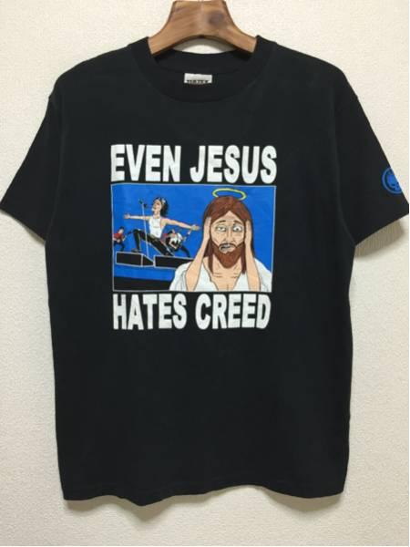 [即決古着]The offspring/オフスプリング/EVEN JESUS HATES CREED/Tシャツ/半袖/黒/ブラック/L