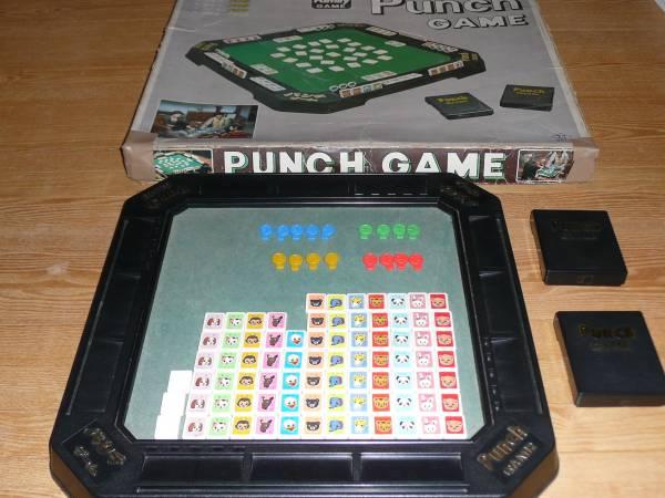 ★タカトク パンチゲーム PUNCH GAME 1970年代物 初期版 昭和レトロ 希少 入手困難★_パイ、チップに欠品あり 箱ダメージあり