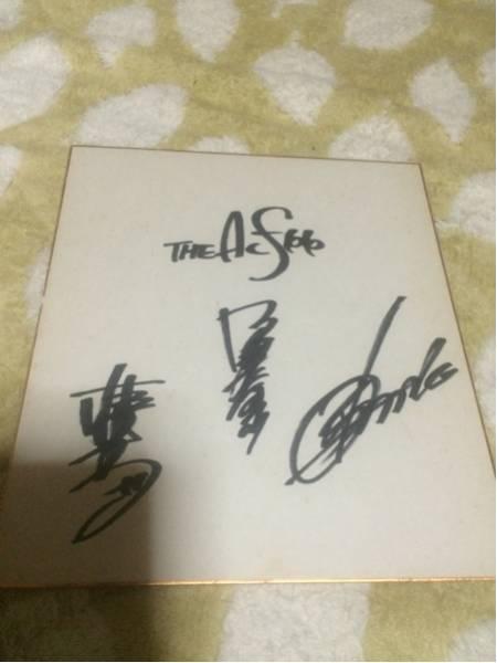 THE ALFEEのサイン色紙現状品