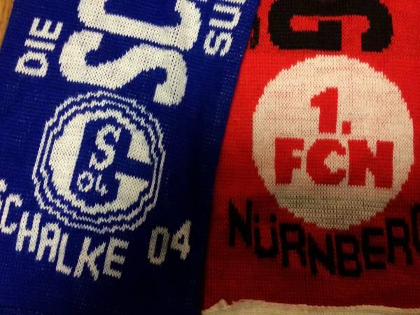 シャルケ04/1FCニュルンベルグ友好マッチマフラードイツサッカー グッズの画像