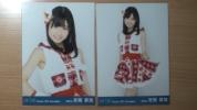 HKT48 安陪恭加 月別生写真 2012 12月 2枚(チュウ ヒキ)