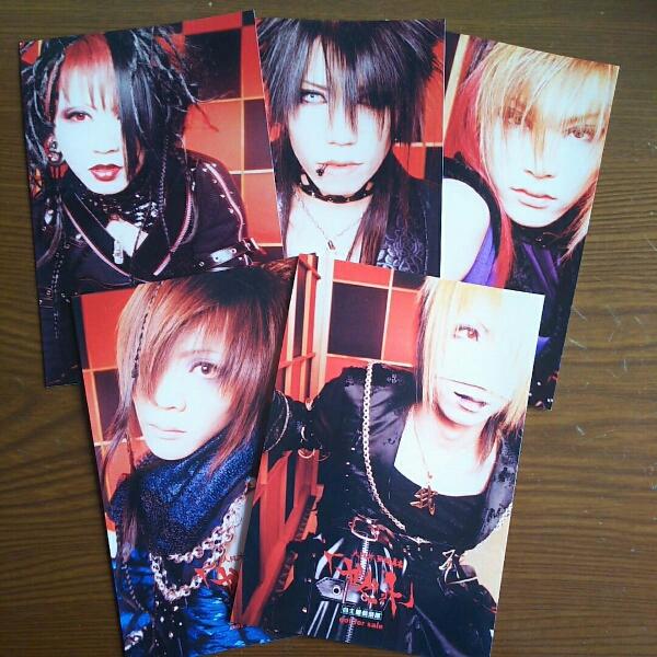 ガゼット the GazettE 異端 ポストカード 5枚セット ライブグッズの画像