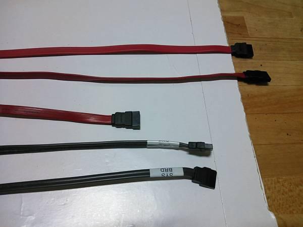 ◇長い SATAケーブル (シリアルATA) 5本セット 40cm~50cm Dell HP 他◆PC整備・動作確認済み_画像3