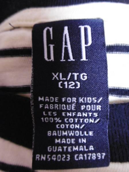 ё  GAP  ё 半袖Tシャツ ■XL 12■黄色 紺ボーダー_画像3