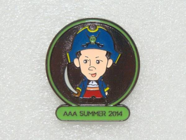 AAA★浦田直也 キャラクターピンバッジ ピンズ グッズ 緑