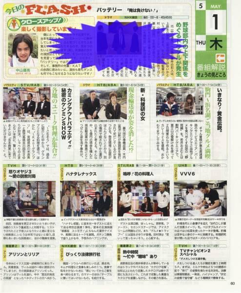 ◇TV LIFE 2008.5.9号 切り抜き 中山優馬 バッテリー