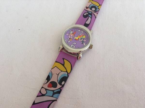パワーパフガールズ 子供用 腕時計 ハワイ 紫 グッズの画像