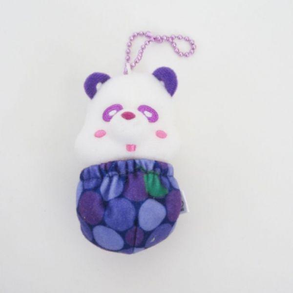 AAA え~パンダくるりんフルーツキーホルダー(紫) 與グッズ