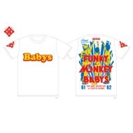 即決 FUNKY MONKEY BABYS おま道FINALTシャツ KIDS ホワイト