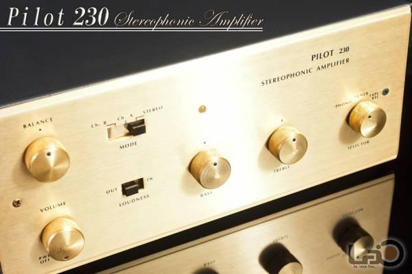 Pilot 230 ステレオ・プリメインアンプ 真空管_画像1